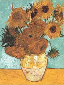vanGogh sunflower vase
